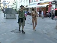 People were surprised and took pictures with white-haired shameless minx who was walking naked 4