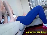 Two scenes featuring Thai courtesan in different outfits fucked by white foreigner 5