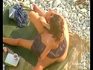 Compilation of scenes featuring people of different ages being engaged in dirty affairs on the beach 4
