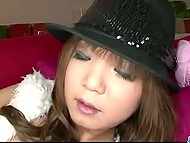 Extravagant Asian Mizuki Ishikawa kneads muff with vibrator and rides rubber pecker 9