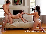 Under the direction of experienced porn actress teen starlet easily passed casting