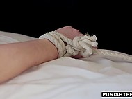 Honey turned to be a real hottie who gets pleasure from wax play and rough fucking 5