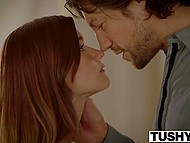 Red-haired Alaina Dawson couldn't focus on learning French because of desire to be intimate with tutor 4