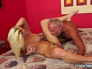 Nimble blonde understands that old man couldn't satisfy her and takes the matter into her own hands 5