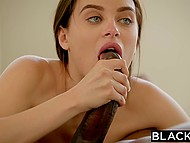 Black guy won once again and beautiful girl Lana Rhoades had to pay boyfriend's debt 6