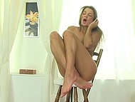 Сolleen invited an operator home to film masturbation video with her in the main role 11
