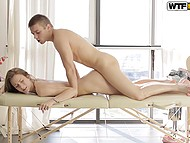 Guy was pretty handsome and proficient masseur and young lass let him fuck her without a second thought 10