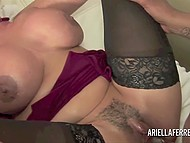 Fiery MILF Ariella Ferrera is drinking red wine when black man comes close to her and pulls huge dick out of pants 8