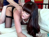 Estate agent Bianca Breeze's panties got off when dude pulled out five thousand dollars 11