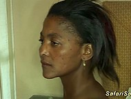 Bitch from Africa with saggy tits gets fucked by middle-aged tourist in cheap hotel 11