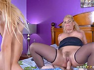 Full-bosomed dame didn't even suppose that stepdaughter would suck a cock for cash but kept their company 3