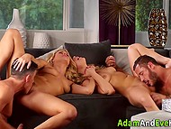 Business partners organized a meeting with their ladies and soon it turned into swinger foursome 7
