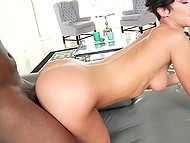 Negro vehemently fucks and feeds with sperm his ex-girlfriend that came to visit him 5