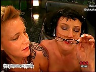 Two bitchy German MILFs like a lot copious amounts of sperm on their faces 9