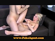 Desire to earn a lot of money fucking on camera brought blonde to porn casting 7