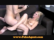 Desire to earn a lot of money fucking on camera brought blonde to porn casting 8