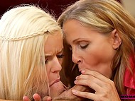 Lad and his girlfriend Halle Von had problems in bed and experienced Julia Ann helped young people to solve them 8
