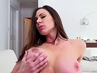 Famous American pornstar Kendra Lust with curvy shapes gets fucked by French colleague 4
