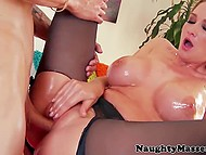 Masseur's hands made dreams come true and girl turned into busty blonde whore 6