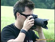 German seducer pretended to be photographer to fuck young girl in solitary field 4