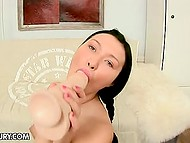 Brunette is fond of anal fucking and shoves rubber rod inside asshole when there is nobody to have sex with 4