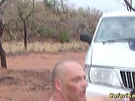 German tourist was driving around savanna with a view to picking up and fucking black prostitute 11