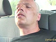 German tourist was driving around savanna with a view to picking up and fucking black prostitute 5