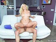 Full-bosomed bombshell with nice buttocks skillfully fucks her new neighbor 6
