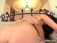 Pussy of black-haired Rosy Rox was pretty tight but fucker invaded little asshole too 10