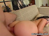 Pussy of black-haired Rosy Rox was pretty tight but fucker invaded little asshole too 7