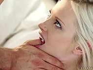 Charming blonde and swain came back to bed to take another dose of pleasure 11