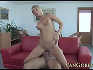 Horny Laura Crystal sucked ramrod greedily before saddling up and riding it without stopping 10