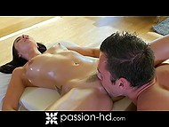Ravishing hot girl was delighted after erotic massage and fucking act with masseur 8
