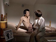 Compilation of bed scenes featuring main characters fucking non-stop in full-length Korean movie 6