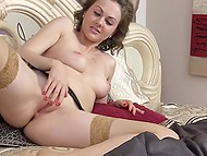 Lithuanian MILF Tina Kay has to masturbate quite often because she always feels horny 9