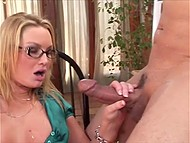 Vicious Flower Tucci handled bald dude's penis and gave him vaginal fluid to drink 11