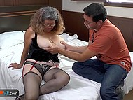 Compilation of exciting videos starring old women going mad about sex with younger partner 10