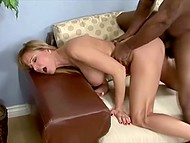 Black dude was very lucky to have great sex with blonde big-breasted MILF 10