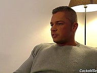 Man jerks actively watching his astonishing spouse getting nailed by Ebony chaser 4
