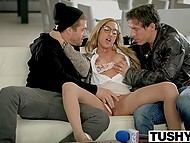 Tempting journalist Chloe Amour interviewed handsome men and enjoyed great threesome 4