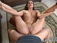In addition to sex with Spanish Julia De Lucia, man enjoyed tight assholes of two slutty babes