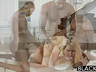 Golden-haired Cadence Lux visited black dudes to get more time for returning the debt 9
