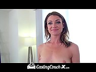 Cheerful debutante getting fucked by porn agent after long interview at the casting 5