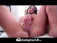 Cheerful debutante getting fucked by porn agent after long interview at the casting 7