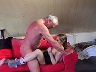 Lassie was horny and old man was the only person who could quench her thirst for sex 10