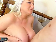 Compilation of two porn clips with participation of tricky old women seducing young dudes 4