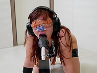 Obedient girl with red hair is used to obey blindly to masked dominant's perverted desires 5