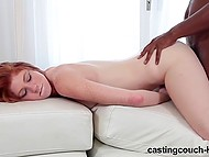 Ginger with freckles turned to be mischievous slut who got all holes fucked by black agent 10