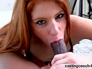 Ginger with freckles turned to be mischievous slut who got all holes fucked by black agent 5