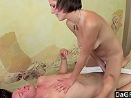 Bald client offered some extra money to trouble-free skinny masseuse for special services 6